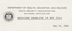 Medicare and Medicaid Act of 1965